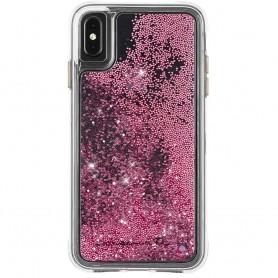 """美國 Case-Mate iPhone Xs Max (6.5"""") Waterfall 亮粉瀑布防摔手機保護殼 - 玫瑰金"""