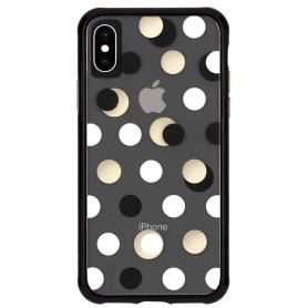 美國 Case-Mate iPhone Xs Max (6.5) Wallpapers 絢麗畫布防摔手機保護殼 - 黑金圓點