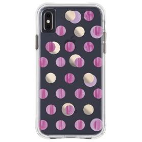 美國 Case-Mate iPhone Xs Max (6.5) Wallpapers 絢麗畫布防摔手機保護殼 - 粉紅圓點