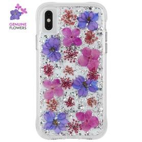 """美國 Case-Mate iPhone Xs Max (6.5"""") Karat Petals 真實花朵防摔手機保護殼 -紫色"""