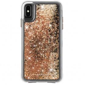 """美國 Case-Mate iPhone Xs / X (5.8"""") Waterfall 亮粉瀑布防摔手機保護殼 - 金色"""