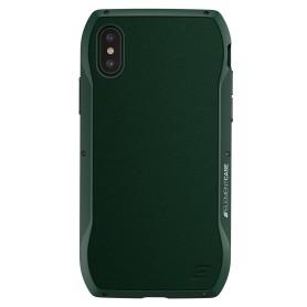 美國 Element Case iPhone XS Max (6.5吋) Enigma 艾格瑪真皮防摔殼 - 綠