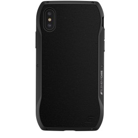 美國 Element Case iPhone XS Max (6.5吋) Enigma 旗艦真皮防摔殼 - 黑