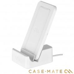 美國 Case-Mate 可立式雙頻無線閃充充電座 - 白