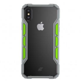 美國Element Case iPhone XS/X Rally 賽拉利手機保護殼 - 淺灰/螢光綠