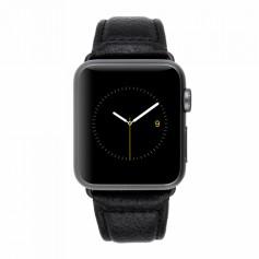 美國 Case-Mate Apple Watch Series 4 38/40mm 高質感圓石紋真皮錶帶 - 黑