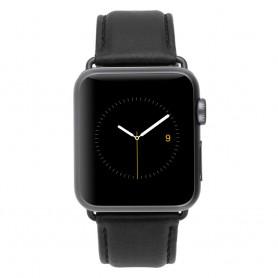 美國 Case-Mate Apple Watch Series 4 44/42mm 頂級小牛皮錶帶 - 黑