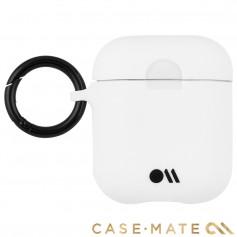 美國 CASE●MATE AirPods 炫彩保護套 - 白色 贈掛環及磁性防丟繩