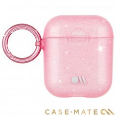 美國 CASE●MATE AirPods 閃耀冰晶 - 幻粉 贈掛環及磁性防丟繩