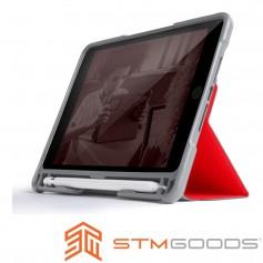 澳洲 STM Dux Plus Duo iPad Mini 2019 / iPad Mini 5 專用內建筆槽軍規防摔殼 - 紅