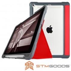 澳洲 STM Dux Plus iPad 9.7吋 (2018/2017) 專用軍規防摔平板保護殼 - 紅