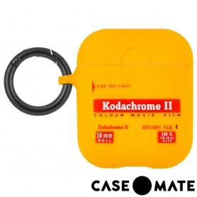 美國 CASE●MATE AirPods 柯達聯名款保護套 - 經典黃 贈掛環及磁性防丟繩