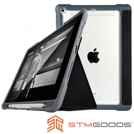 澳洲 STM Dux Plus iPad 9.7吋 (2018/2017) 專用軍規防摔平板保護殼 - 黑色