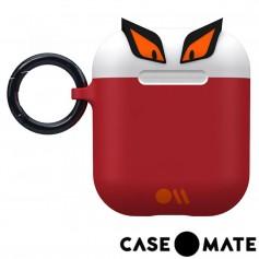 美國 CASE●MATE AirPods 可愛怪物保護套 - 狠角色的艾吉 - 白/紅