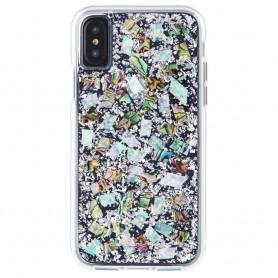 美國 Case-Mate iPhone X Karat Pearl 貝殼銀箔雙層防摔手機保護殼