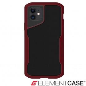 美國 Element Case iPhone 11 Shadow 流線手感軍規殼 - 紅黑