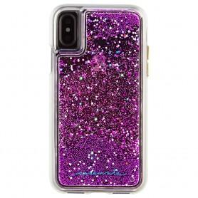 美國 Case-Mate iPhone X Waterfall 亮粉瀑布防摔手機保護殼 - 紫紅