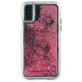 美國 Case-Mate iPhone X Waterfall 亮粉瀑布防摔手機保護殼 - 玫瑰金