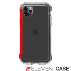 分享 美國 Element Case iPhone 11 Pro Rail 神盾軍規殼 - 晶透紅