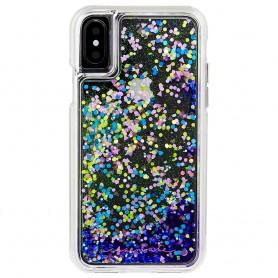 美國 Case-Mate iPhone X Waterfall Glow 螢光瀑布防摔手機保護殼 - 紫