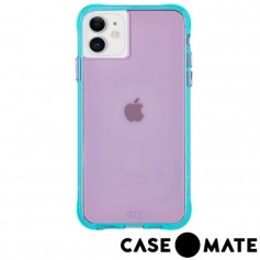 美國 Case●Mate iPhone 11 Tough Neon 經典霓虹強悍防摔手機保護殼 - 紫/藍綠
