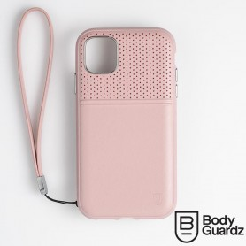 美國 BodyGuardz iPhone 11 Accent Duo 出色頂級真皮軍規殼 - 藕粉