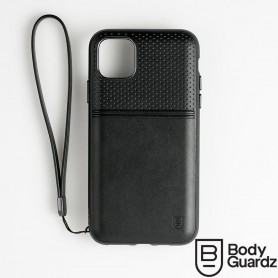 美國 BodyGuardz iPhone 11 Accent Duo 出色頂級真皮軍規殼 - 黑