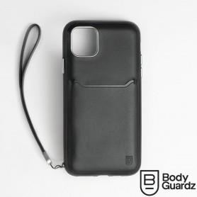 美國 BodyGuardz iPhone 11 Accent Wallet 卡槽頂級真皮軍規殼 - 黑