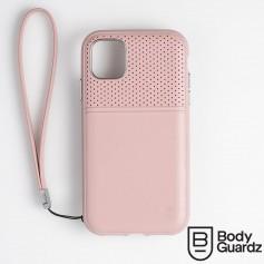 美國 BodyGuardz iPhone 11 Pro Max Accent Duo 出色頂級真皮軍規殼 - 藕粉