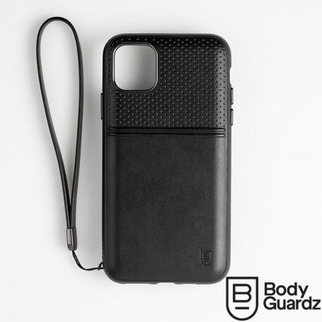 美國 BodyGuardz iPhone 11 Pro Accent Duo 出色頂級真皮軍規殼 - 黑