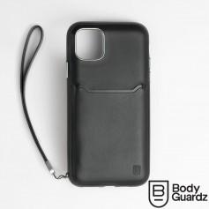 美國 BodyGuardz iPhone 11 Pro Accent Wallet 卡槽頂級真皮軍規殼 - 黑