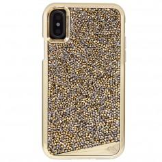 美國 Case-Mate iPhone X Brilliance 時尚水鑽雙層防摔手機保護殼 - 香檳金