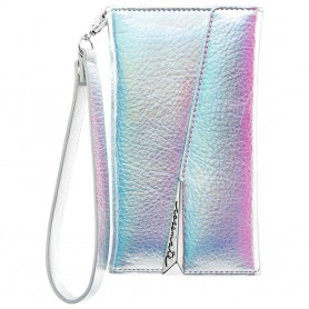 美國 Case-Mate iPhone X Leather Wristlet Folio 真皮質感手拿包風格手機殼 - 彩虹