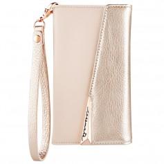 美國 Case-Mate iPhone X Leather Wristlet Folio 真皮質感手拿包風格手機殼 - 玫瑰金