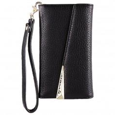美國 Case-Mate iPhone X Leather Wristlet Folio 真皮質感手拿包風格手機殼 - 黑