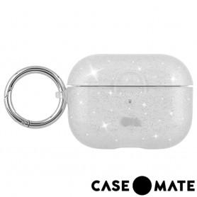 美國 CASE●MATE AirPods Pro 閃耀冰晶 - 透明 贈掛環