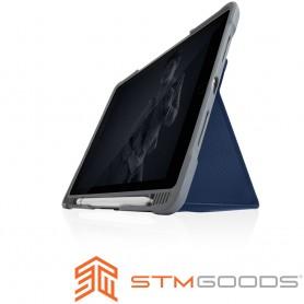 澳洲 STM Dux Plus Duo iPad 2019 (第七代) 10.2吋專用內建筆槽軍規防摔殼 - 藍