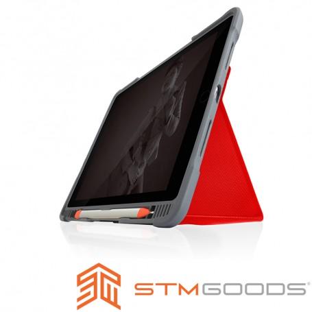 澳洲 STM Dux Plus Duo iPad 2019 (第七代) 10.2吋專用內建筆槽軍規防摔殼 - 紅
