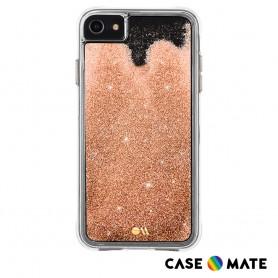 美國 Case●Mate iPhone SE (第二代) Waterfall 亮粉瀑布防摔手機保護殼 - 金色