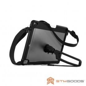 澳洲 STM Dux Grip for iPad 2019 10.2吋 (第7/8代) 專用手持肩背軍規防摔平板保護殼 - 黑