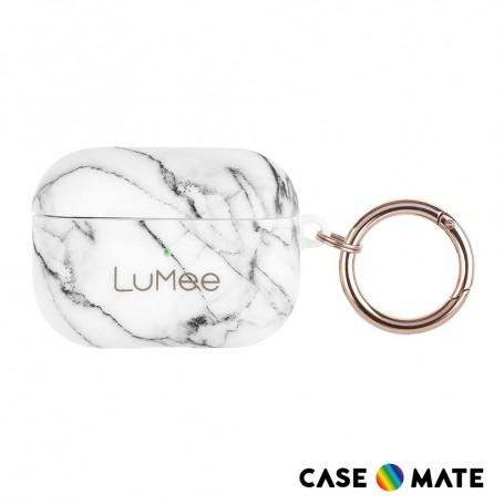 美國 Case•Mate LuMee AirPods Pro 時尚質感保護套 - 白大理石