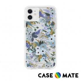 美國 Case●Mate x Rifle Paper Co. 限量聯名款 iPhone 11 防摔手機保護殼 - 花園派對 藍