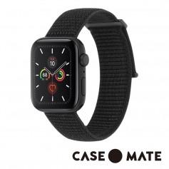 美國 CASE●MATE Apple Watch 5代通用 42-44mm 尼龍運動型舒適錶帶 - 時尚黑