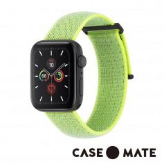 美國 CASE●MATE Apple Watch 5代通用 42-44mm 尼龍運動型舒適錶帶 - 霓虹綠