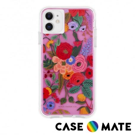 美國 Case●Mate x Rifle Paper Co. 限量聯名款 iPhone 11 防摔手機保護殼 - 花園派對 紅