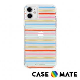 美國 Case●Mate x Rifle Paper Co. 限量聯名款 iPhone 11 防摔手機保護殼 - 歡樂條紋