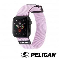 美國 Pelican 派力肯 Apple Watch 42-44mm 1-5代 Protector 保護者NATO錶帶- 淡紫色