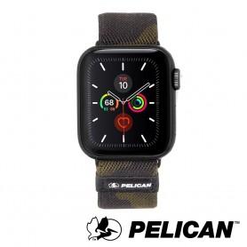 美國 Pelican 派力肯 Apple Watch 42-44mm 1-5代 Protector 保護者NATO錶帶- 迷彩綠色
