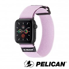 美國 Pelican 派力肯 Apple Watch 38-40mm 1-5代 Protector 保護者NATO錶帶- 淡紫色