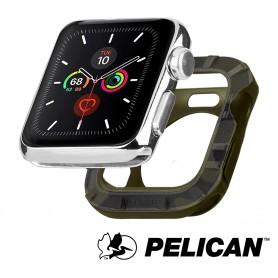 美國 Pelican 派力肯 Apple Watch 42-44mm 1-5代 Protector 保護者保護殼- 迷彩綠色
